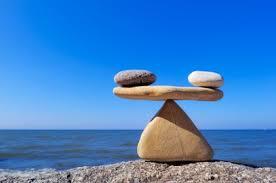 Zen rocks balancing on beach