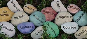 Stones with message on them